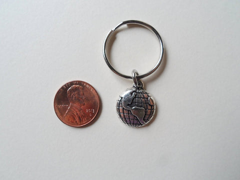 World Globe Necklace and Keychain Set