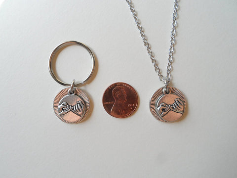 Pinky Promise Necklace & Keychain Set