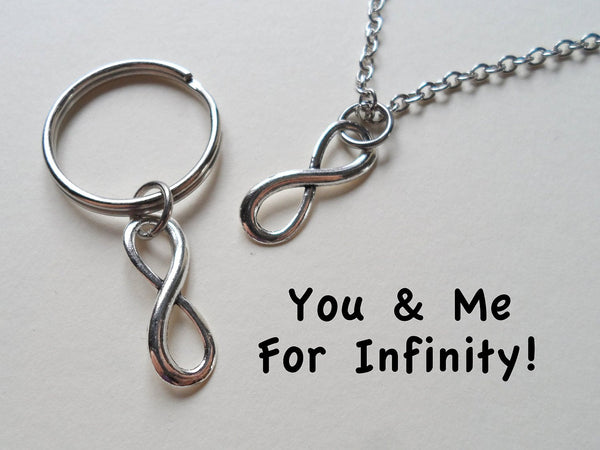 Infinity Symbol Necklace and Keycahin Set