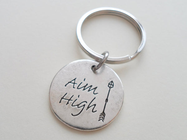 Aim High Keychain, Encouragement Keychain, New Graduate Gift, Graduation Gift