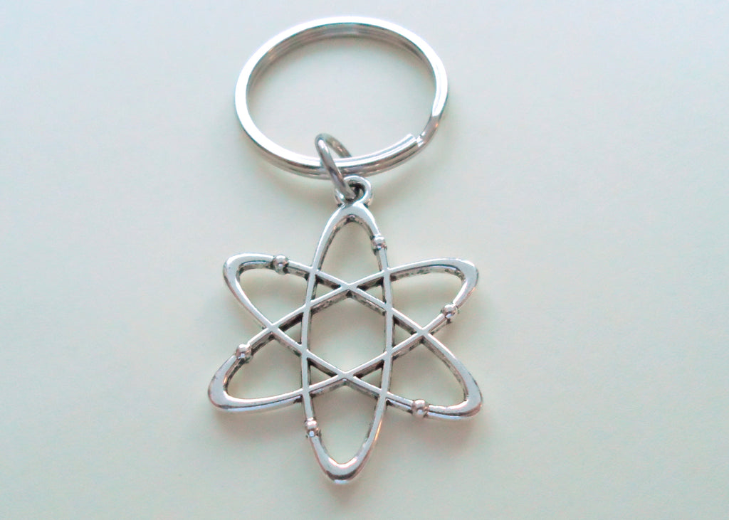 Atom Charm Keychain, Science & Physics Keychain