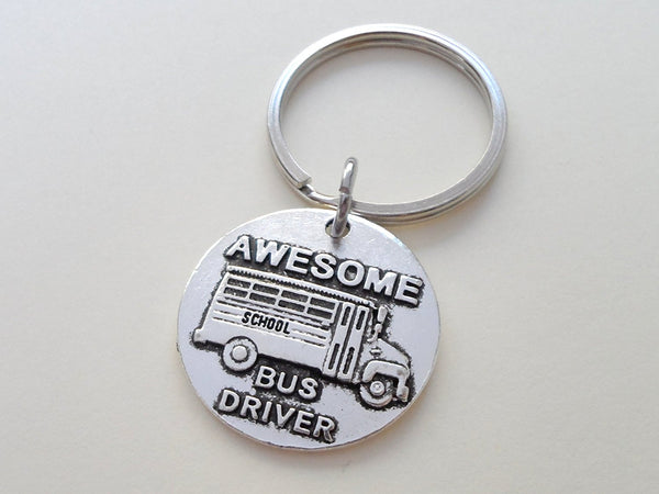 Bus Driver Appreciation Gift • Awesome Bus Driver Keychain | Jewelry Everyday