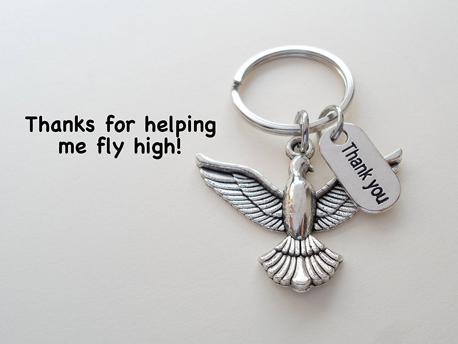 bird keychain appreciationgift thanks for helping me fly high