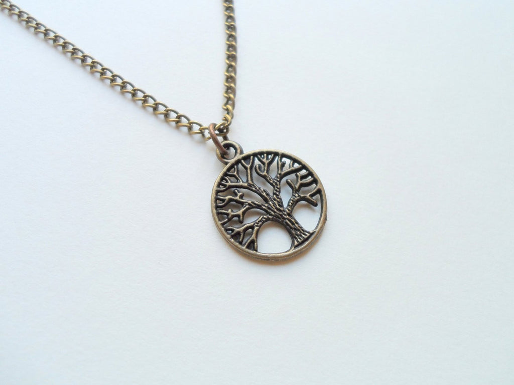 biba pendant silver life rose tree necklace shop of