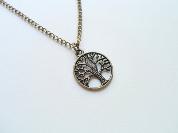 Bronze Tree of Life Pendant Necklace