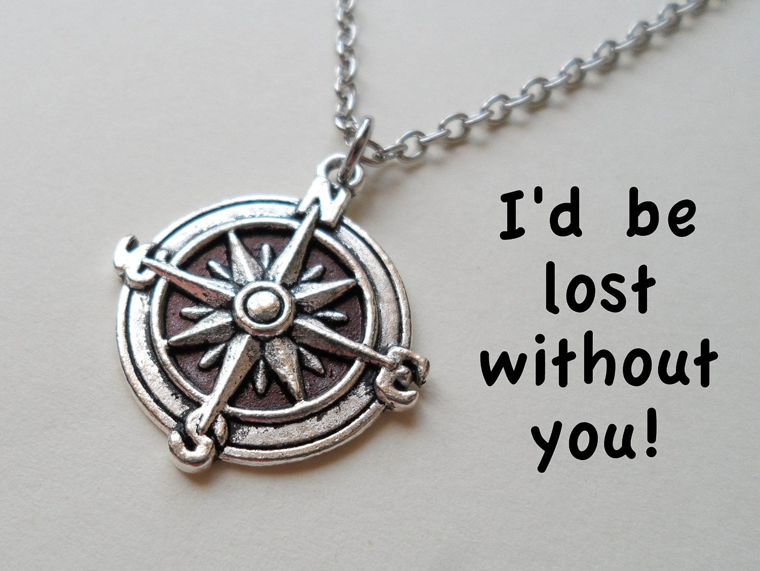 products necklace wanderlust north adventure friendship true gold compass
