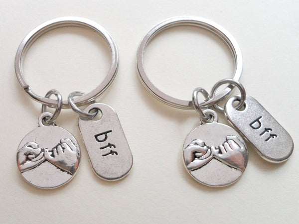 Double Bff Pinky Promise Keychains Best Friends Keychains