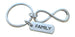 Family Tag with Silver Tone Infinity Symbol Keychain - For Infinity; Family Keychain