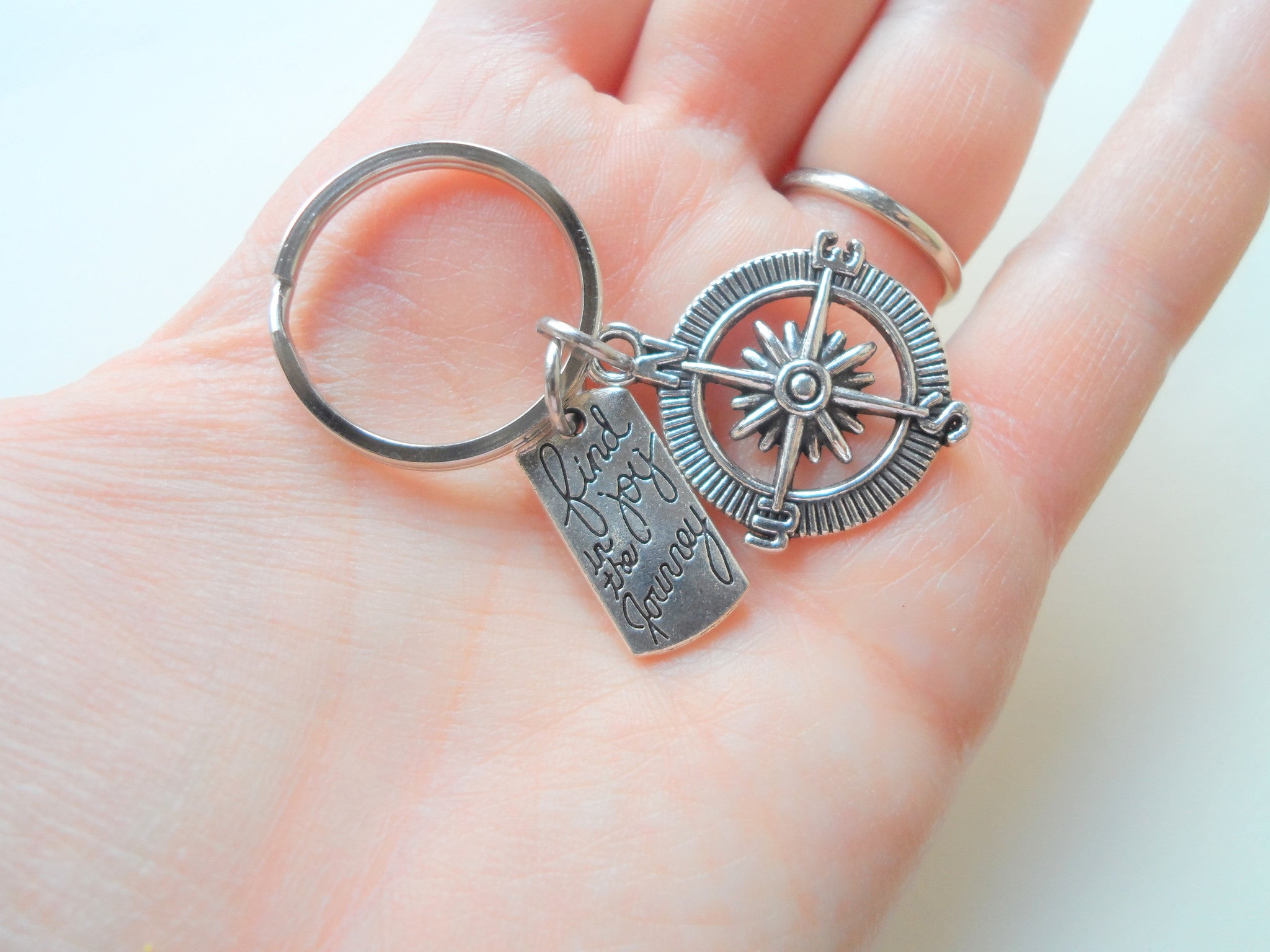 Enjoy The Journey Compass Dream Keychain 2E Its All About...You