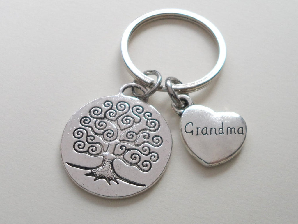 Grandma Family Tree Keychain