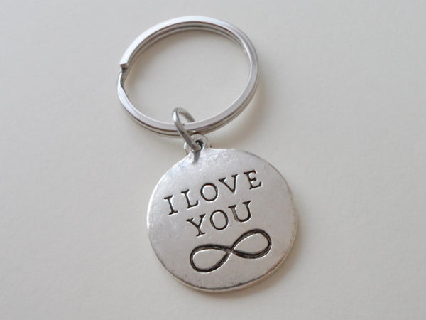 """I Love You"" for Infinity Keychain, Saying Disc Charm"