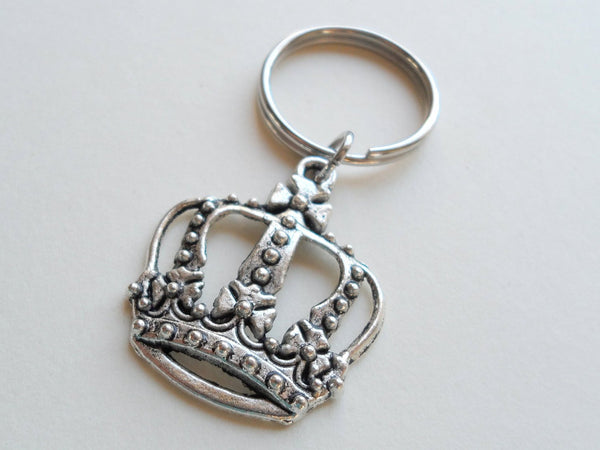 Large Crown Keychain, King, Queen