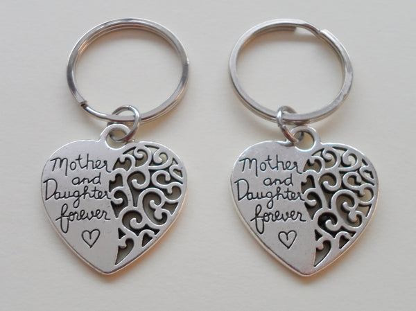 Mother and Daughter Forever Keychain Set