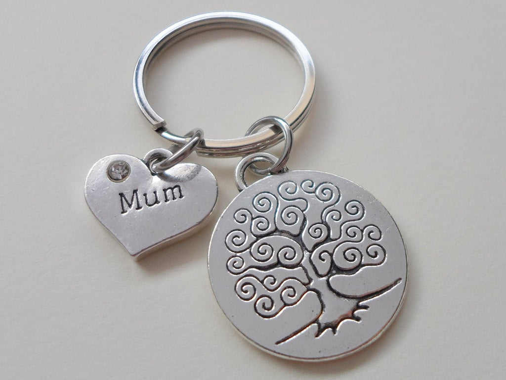 Mum Family Tree Keychain, Mother's Gift