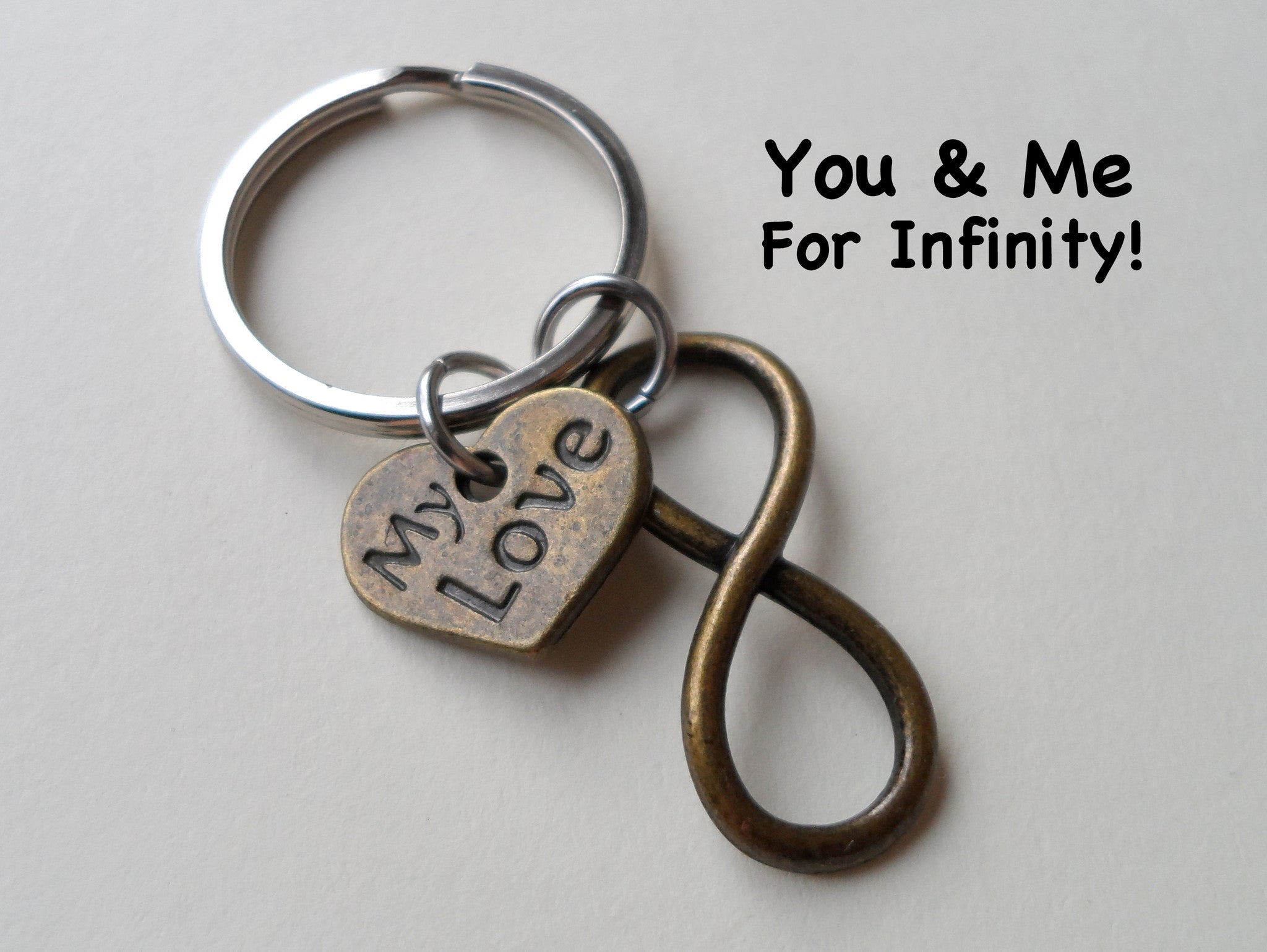 My Love Bronze Infinity Symbol Keychain Jewelryeveryday