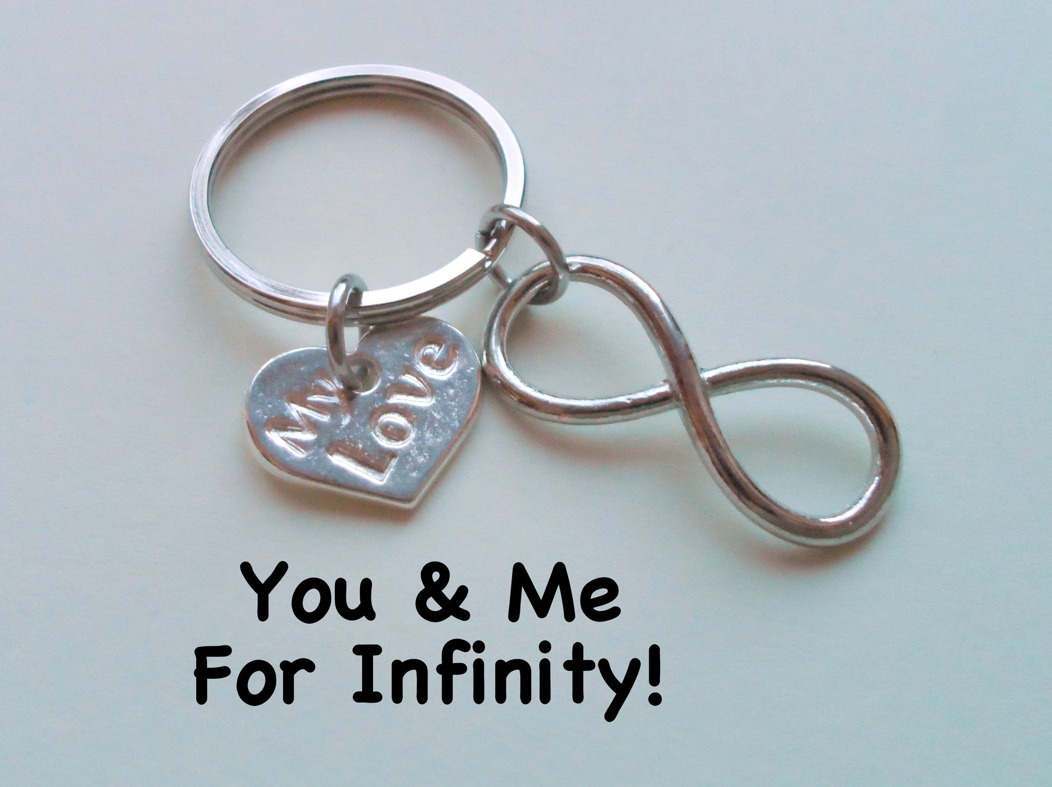 My Love Infinity Symbol Keychain You And Me For Infinity