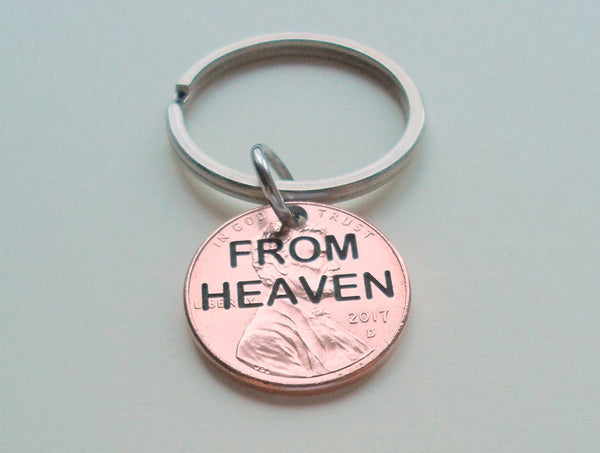 Penny From Heaven Penny Keychain, Engraved Penny Keychain