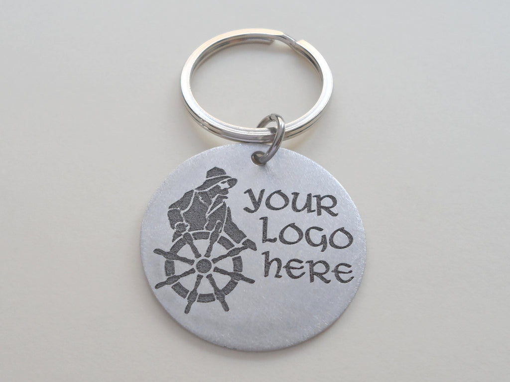 Customized Laser Engraved Logo Keychain, Drawing Engraved Keychain, Customized Logo Keychain