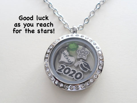 """Reach for the Stars"" Graduate Locket Necklace w/ Birthstone - by Jewelry Everyday"