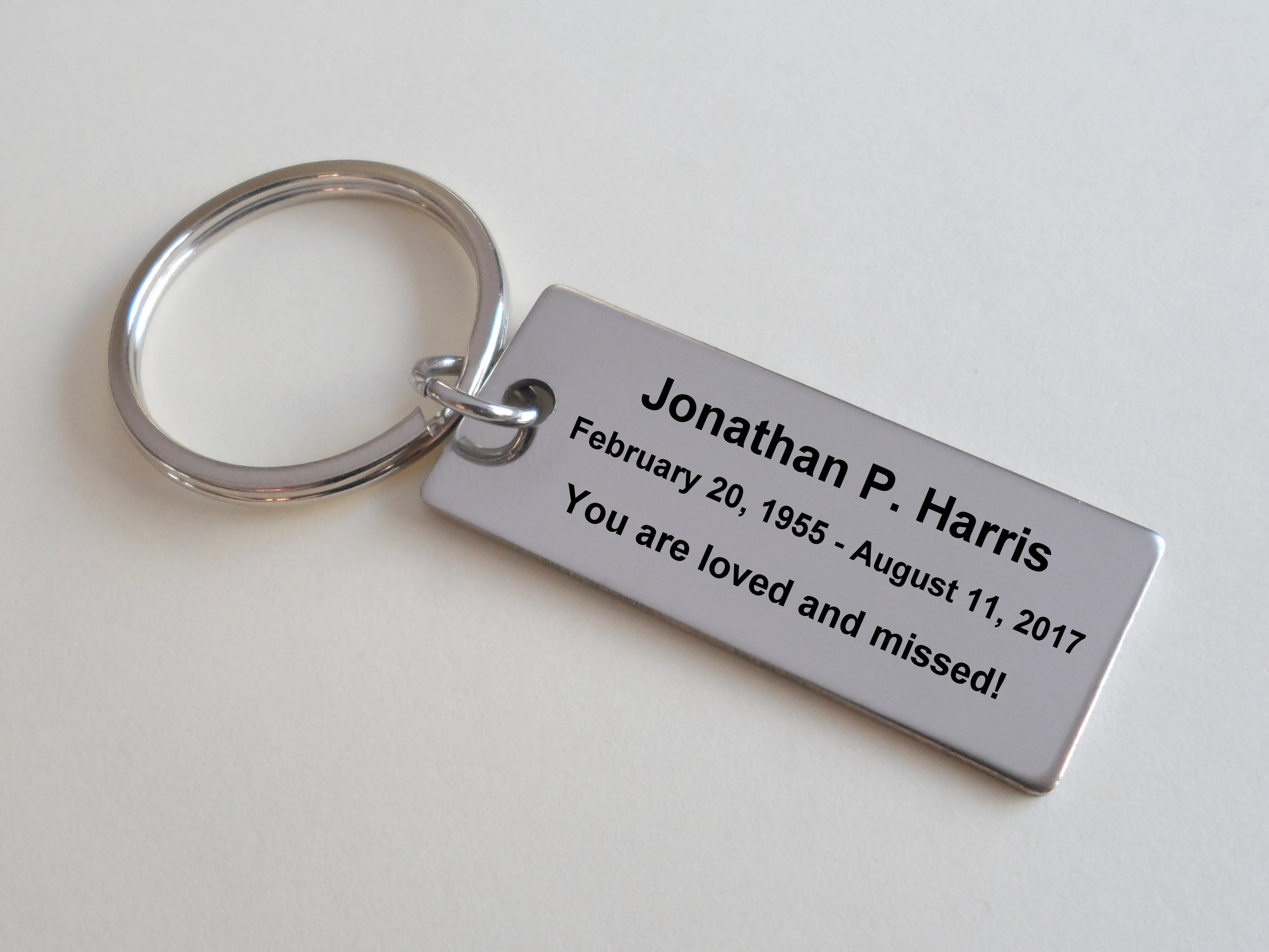 Personalized Custom Engraved Memorial Keychain, Family Loss Keychain Gift,  Remembrance Keychain, Memorial Gift, Stainless Steel Keychain