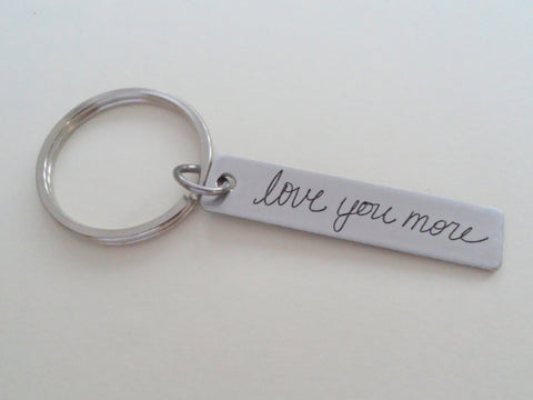 Anniversary Gift • Personalized Laser Engraved Handwriting Keychain, Couples Keychain for Anniversary or Memorial by Jewelry Everyday
