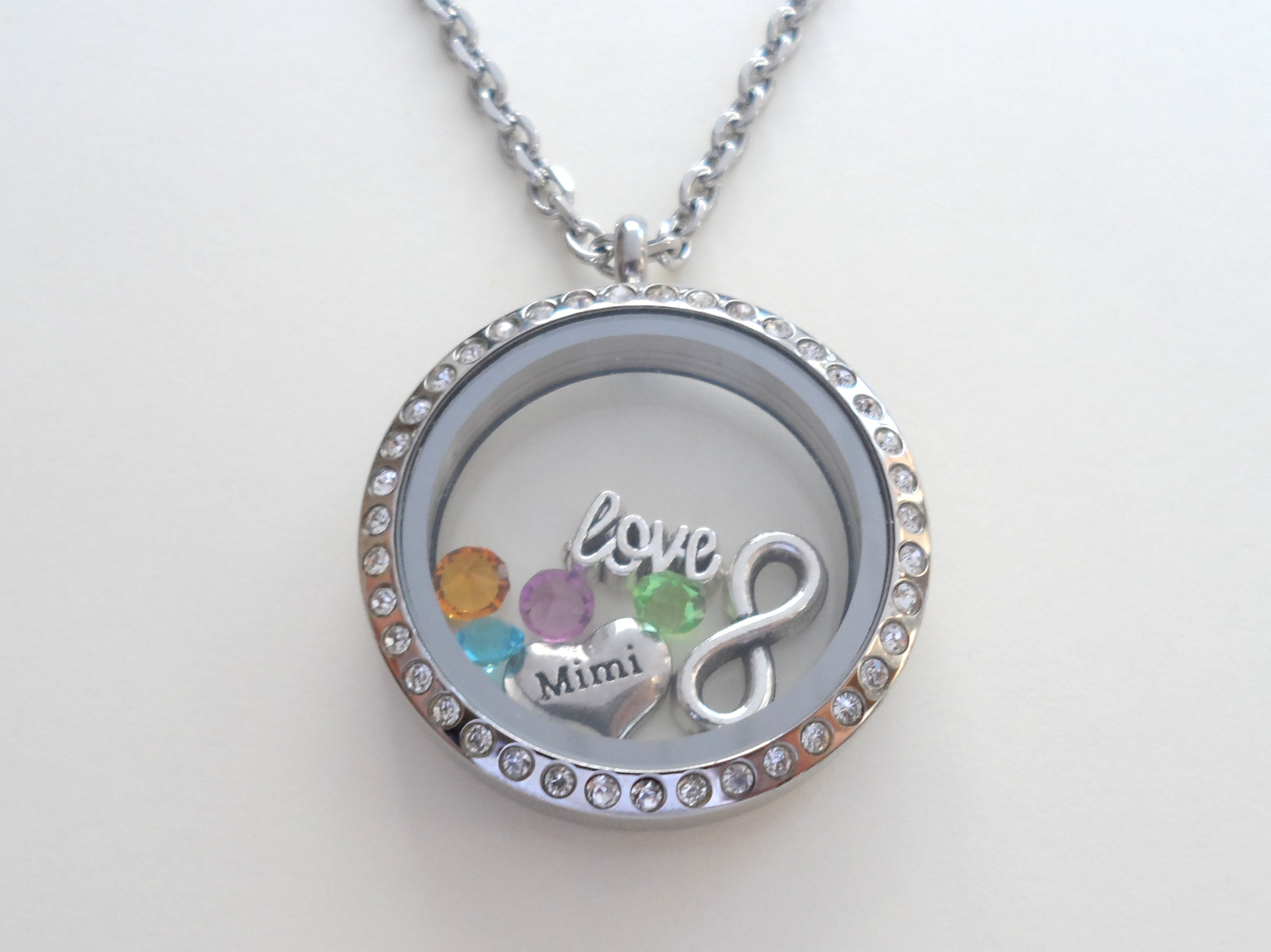 for necklace or floating grandma gift memory stainless mom locket teardrop personalized sam lockets steel products
