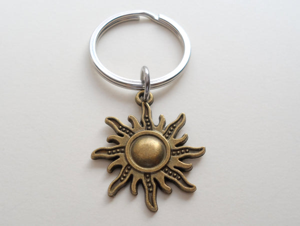 Bronze Sunshine Keychain - You Are The Light Of My Life; Couples Keychain