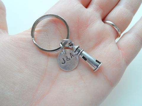 Lighthouse Keychain - Lost Without You; Couples Keychain