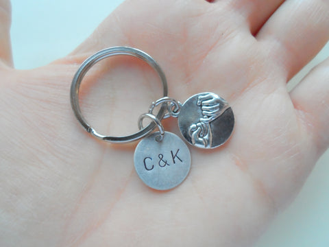 Anniversary Gift | Personalized Double Pinky Promise Charm Keychains
