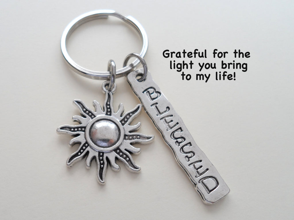 Sun & Blessed Keychain, Caretaker Gift Keychain, Caregiver Gift, Religious Teacher Gift, CNA Gift, Home Aid Gift, Thank you Gift, For Friend