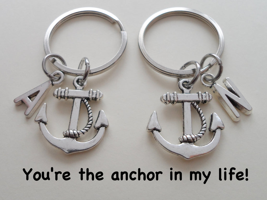 Anchor Keychain Set - You're The Anchor In My Life; Couples Keychains