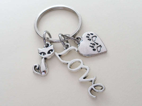 Cat Lover Keychain, Cat Memorial Keychain, Animal Shelter Volunteer Gift Keychain, Animal Rescue Volunteer, Humane Society Thank You Gift
