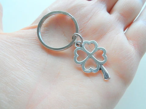 Four Leaf Clover Keychain - Lucky To Have You; Couples Keychain