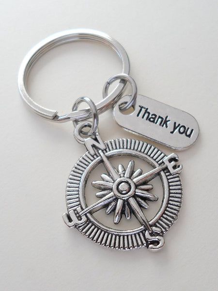 Employee Appreciation Gifts Quot Thank You Quot Compass Keychain