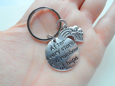After Every Storm Is a Rainbow of Hope Keychain, Encouragement Keychain by JewelryEveryday