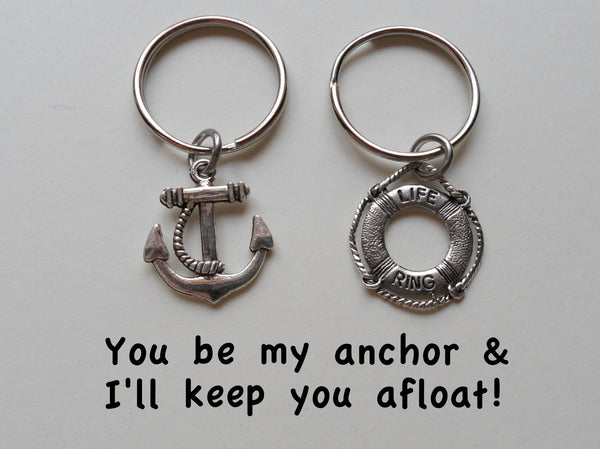 Anchor & Lifesaver Ring Keychain Set