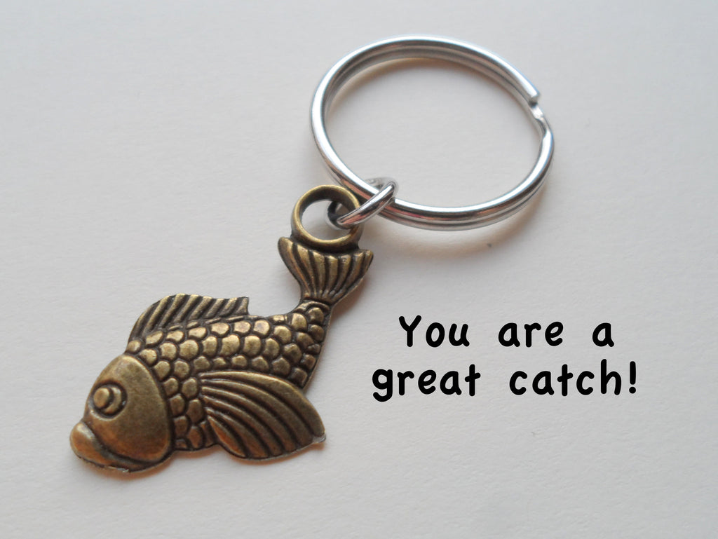 Bronze Fish Keychain