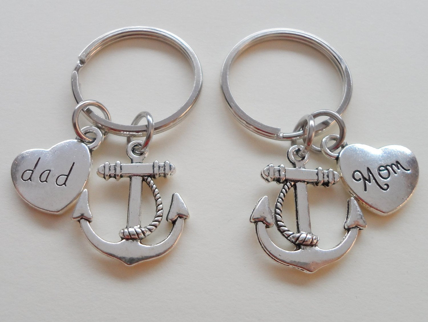 dad and mom anchor keychain set you re the anchor in my life