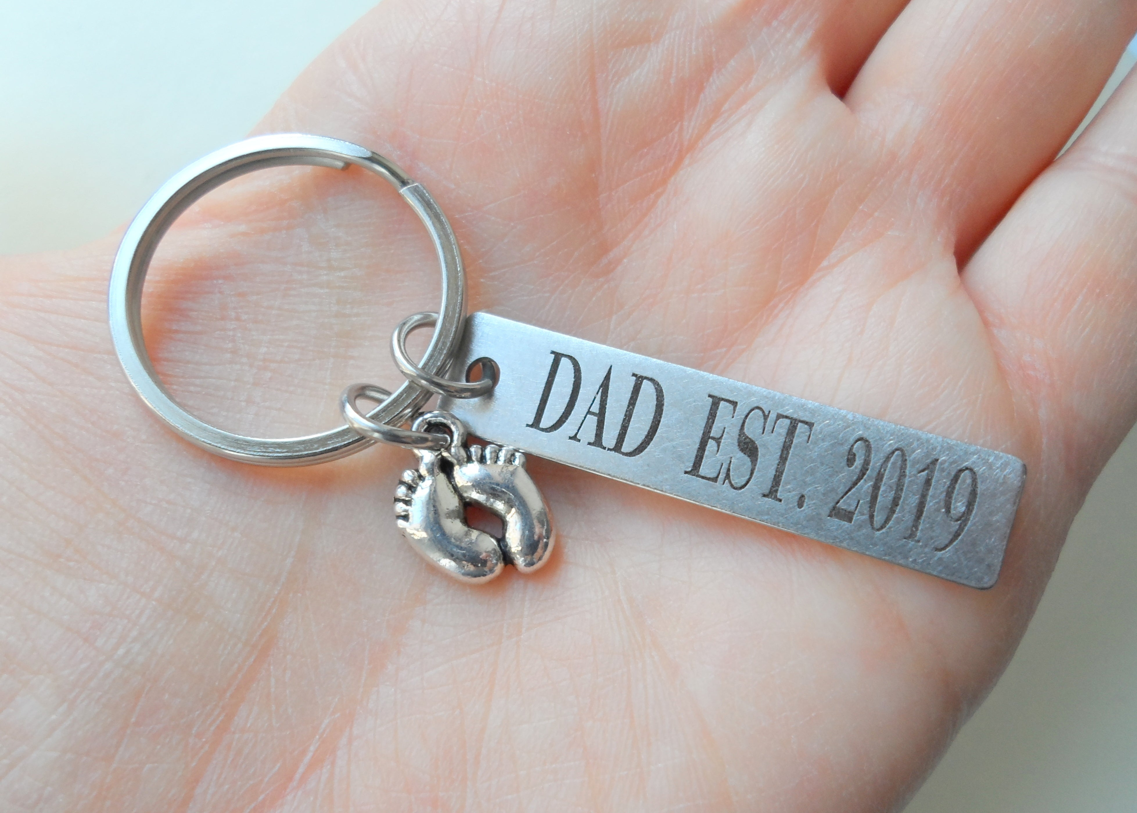 My first Fathers day 2020 photo keyring daddy gift Fathers day keyring