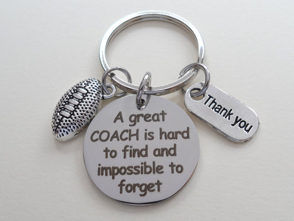 Football Coach Gift, Appreciation Gift - A Great Coach is Impossible to Forget, Personalized Option
