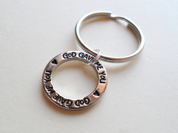Circle Ring God Gave Me You Keychain