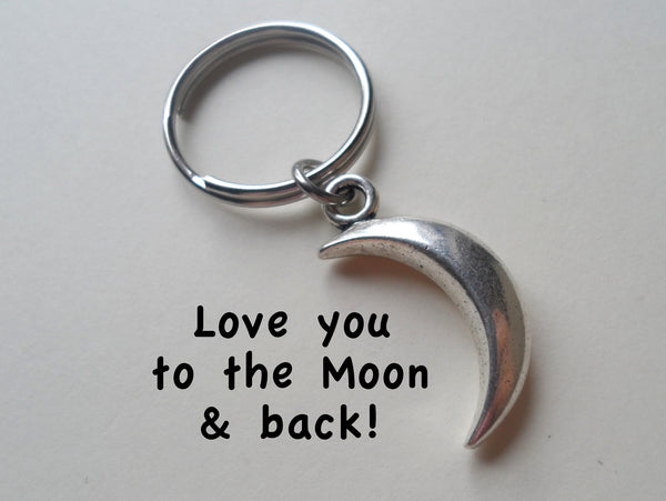 Moon Necklace And Moon Keychain Set Jewelryeveryday