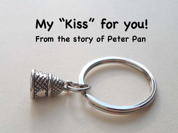Thimble Keychain - Peter Pan's Kiss