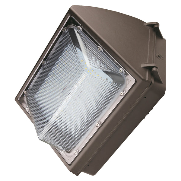 55W LED Wall Pack Light - Semi Cutoff - Forward Throw - Photocell Included