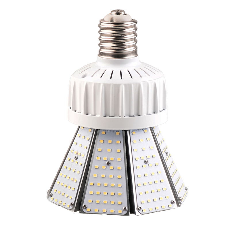 60W LED Corn Light Bulb - Post Top - Bottom Socket - Mogul Base (E39) - (ETL+DLC)