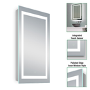 24X36 Inch LED Lighted Bathroom Mirror - Gold Frame - Touch Sensor - CCT Remembrance - Evo Style