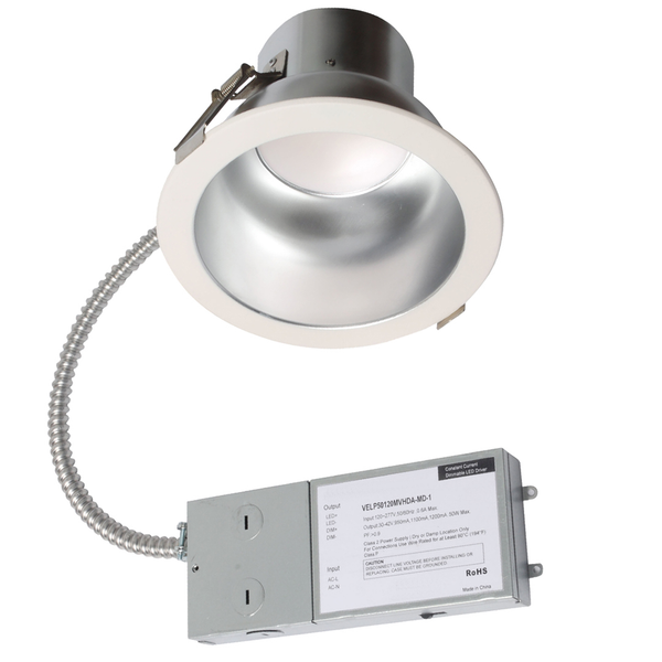 LED 8 Inch Baffle Recessed DownLight - 35 Watt - Dimmable - 2600 Lumens
