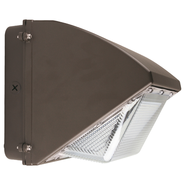 55W Outdoor LED Wall Pack Light - Semi Cutoff - Forward Throw - Bronze