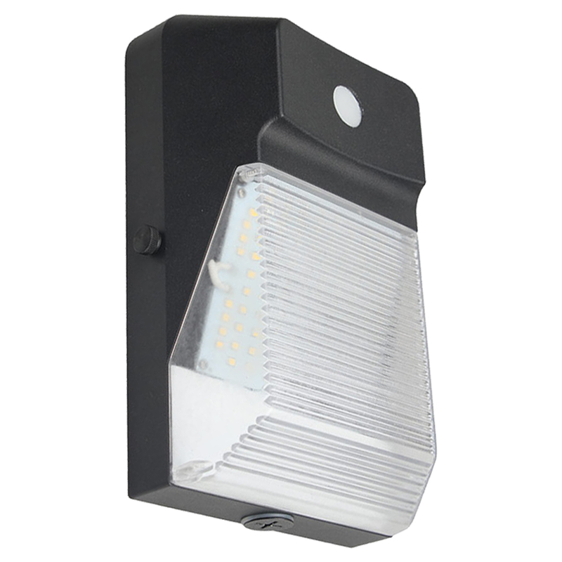 20W LED Mini Wall Pack Light - 2200 Lumens - 5700K - With Photocell - Bronze