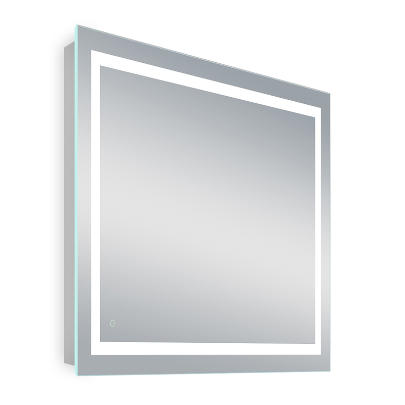 36x36 Inch LED Bathroom Lighted Mirror - Defogger On/Off Touch - CCT Changeable - Window Style